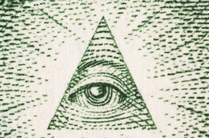 Eye on dollar bill