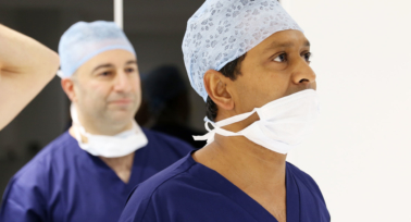 Romesh in the operation theatre