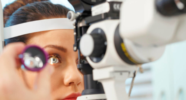 eye examination at the ophthalmologists