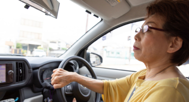 Women with presbyopia driving