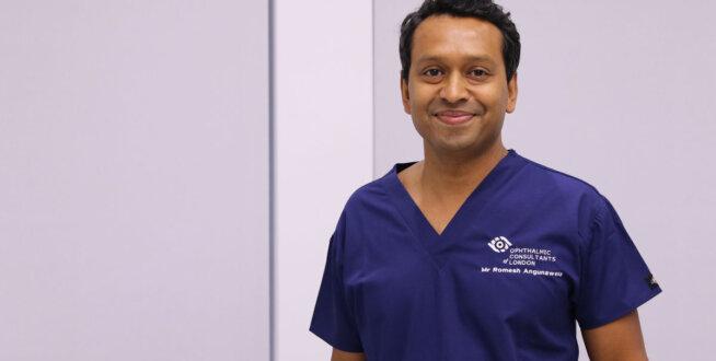 Dr Romesh Angunawela looking to the camera
