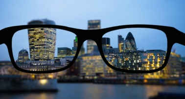 city view through glasses